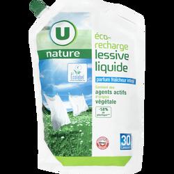 Lessive liquide fraîcheur intense Nature U, recharge de 2l, 30 lavages
