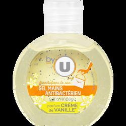 Gel main hydroalcoolique sans rinçage vanille BY U flacon 60ml