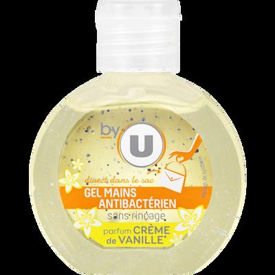 Gel pour les mains sans rinçage parfum vanille BY U, flacon de 60ml