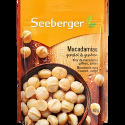 Noix de macadamia grillées et salées, sachet 80g