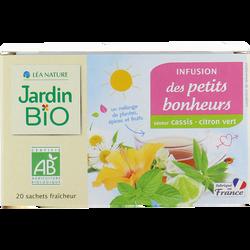 Infusion JARDIN BIO, Petits bonheur Saveur cassis citron vert, x20