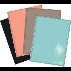 Grand cahier brochure U, petits carreaux, 24x32cm, 192 pages