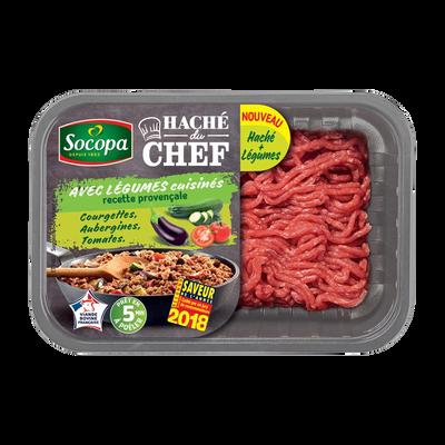 Haché de boeuf du chef légumes à la provençale, SOCOPA, France, barquette, 500g