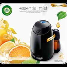 Air Wick Diffuseur + Recharge Essential Mist Parfum Fleur De Citronnier