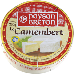 Camembert lait pasteurisé 23%mg, PAYSAN BRETON, 250g