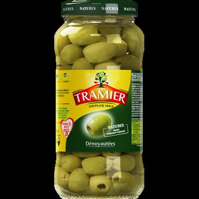 Olives vertes dénoyautées, TRAMIER, bocal en verre, 260g