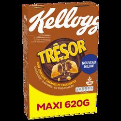 Céréales TRESOR choco.caramel&peanut kellogg's paquet 620g