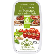 Tomates aux herbes pesto BIO CRUSCANA, barquette de 100g
