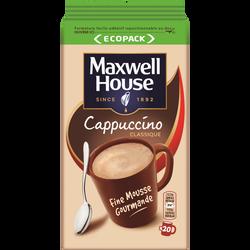 Café Soluble MAXWELL HOUSE Cappucino Classique Sachet 250g