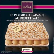 Plaisir caramel au beurre salé recette Le Nôtre LABEYRIE, 410g