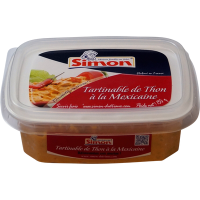 Tartinable de thon à la Mexicaine SIMON DUTRIAUX, 150g