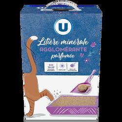 Litière minérale agglo parfumée chat U, 5l