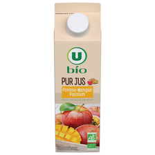 Pur jus pomme,mangue et passion bio U, 1 litre