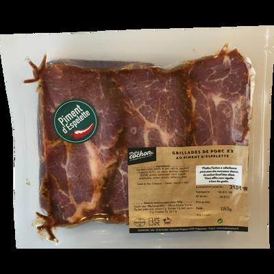 Grillade de porc au piment d'Espelette, MAITRE COCHON, France, 2 pièces