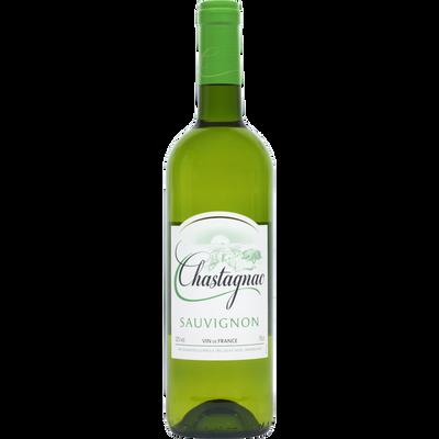 Vin blanc de France Sauvignon chastagnac U, 75cl