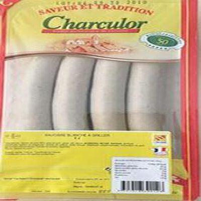 Saucisse blanche X4, CHARCULOR, 340G