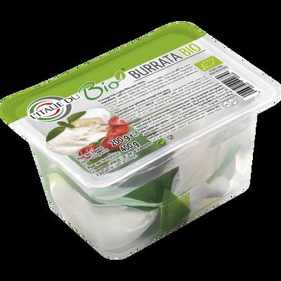 Burrata avec feuille, BIO, lait pasteurisé, 27%mg, 200g