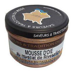 Mousse d'oie aux Muscat de Rivesaltes,   Bocal de 190g, SAVEURS & TRADITION DU MIDI