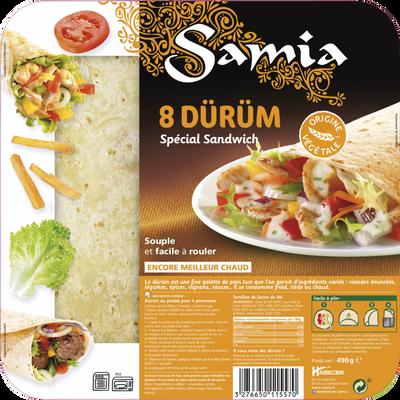 Durüm spécial sandwich SAMIA, 8x25cm, 490g