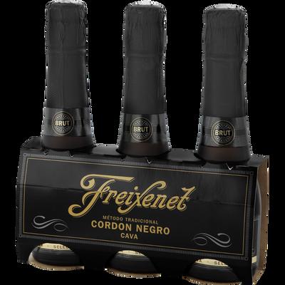 Cordon Negro brut blanc Cava Espagne FREIXENET, 3 bouteilles de 20cl
