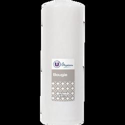 Bougie U MAISON, non parfumée, 68x195mm, blanche