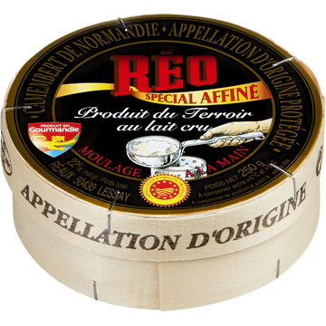 Réo Camembert Aoc Au Lait Cru Reo Noir, 22%mg, 250g