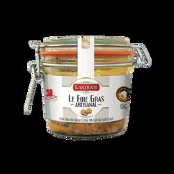 Verrine foie gras canard entier mi-cuit Sud-Ouest, IGP, 500g