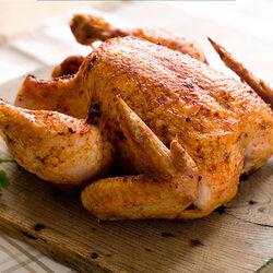 Poulet roti poulet fermier jaune