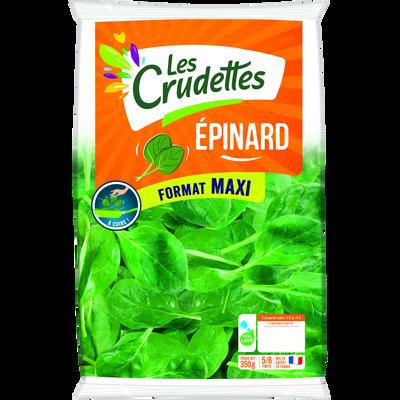 Maxi épinard, LES CRUDETTES, sachet 350g
