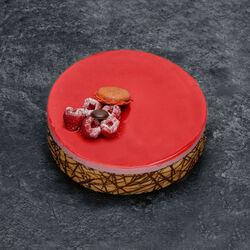 Bavarois framboise chocolat décongelé, 6 parts, 605g