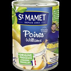 Poires william's au sirop SAINT MAMET, boîte de 235g