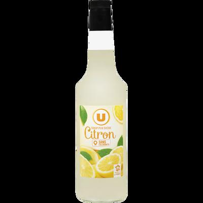 Sirop de citron U, bouteille de 70cl