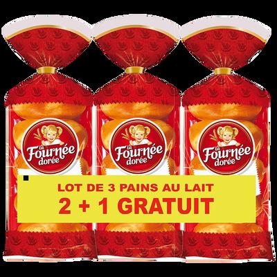 Pain au lait LA FOURNÉE DORÉE, 2x10 + 10 offerts