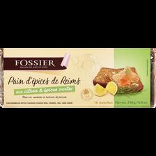 Pain d'épices citron épices vertes FOSSIER, 250g
