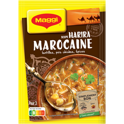 """Soupe déshydratée Harira à la marocaine """"Escapade"""" MAGGI, sachet de 75cl, 90g"""