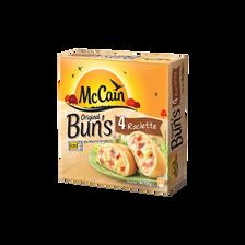 Original Bun's raclette, jambon, crème fraîche MC CAIN, 4x100g