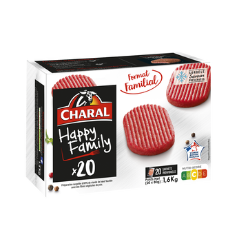 Charal Hachés Happy Family Charal, 20x80g Soit 1,6kg