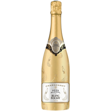 Boisson gazeuse à base de vin blanc Chardonnay sans alcool Foussy, bouteille de 75cl