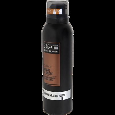 Mousse de douche copper parfum bergamote et bois de santal AXE, flaconde 200ml