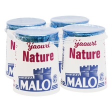 Yaourt nature, MALO, pot, carton, 4x125g