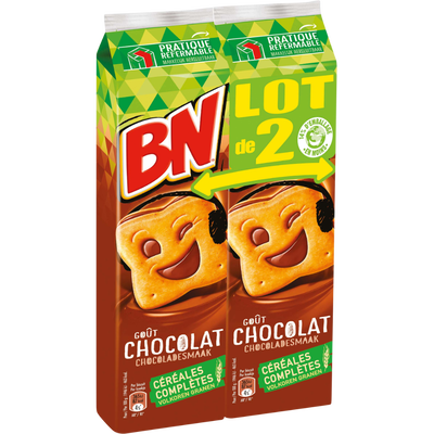 Goûters fourrés chocolat BN, 2x295g