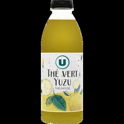 Boisson réfrigéré au thé vert et au jus de yuzu flash U, bouteille de1l