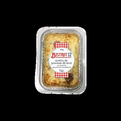 Gratin de pommes de terre saucisse de Montbéliard et comté, 550g