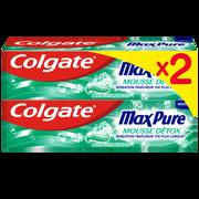 Colgate Dentifrice Max Pure Colgate, 2x75ml