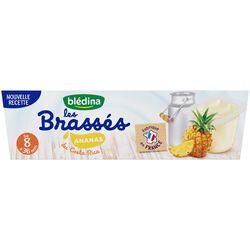 Dessert bébé les Brassés ananas de 8 à 36 mois BLEDINA, 6x95G