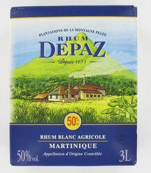 Rhum blanc agricole AOC de Martinique DEPAZ, 50°,  bib de 3l