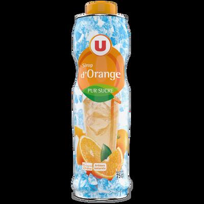 Sirop d'orange U, bidon de 75cl