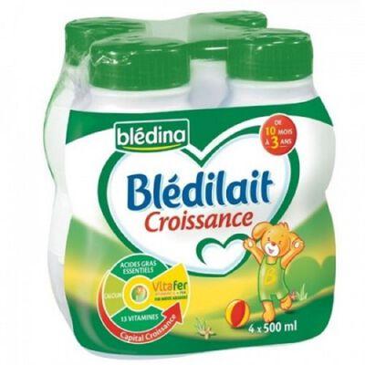 Lait de croissance Blédilait dès 10 mois BLEDINA , BLE 4X250ml