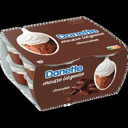 Mousse liégeoise chocolat DANETTE, 8x80g