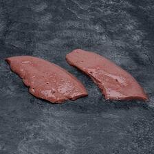 Foie de veau, 2 tranches